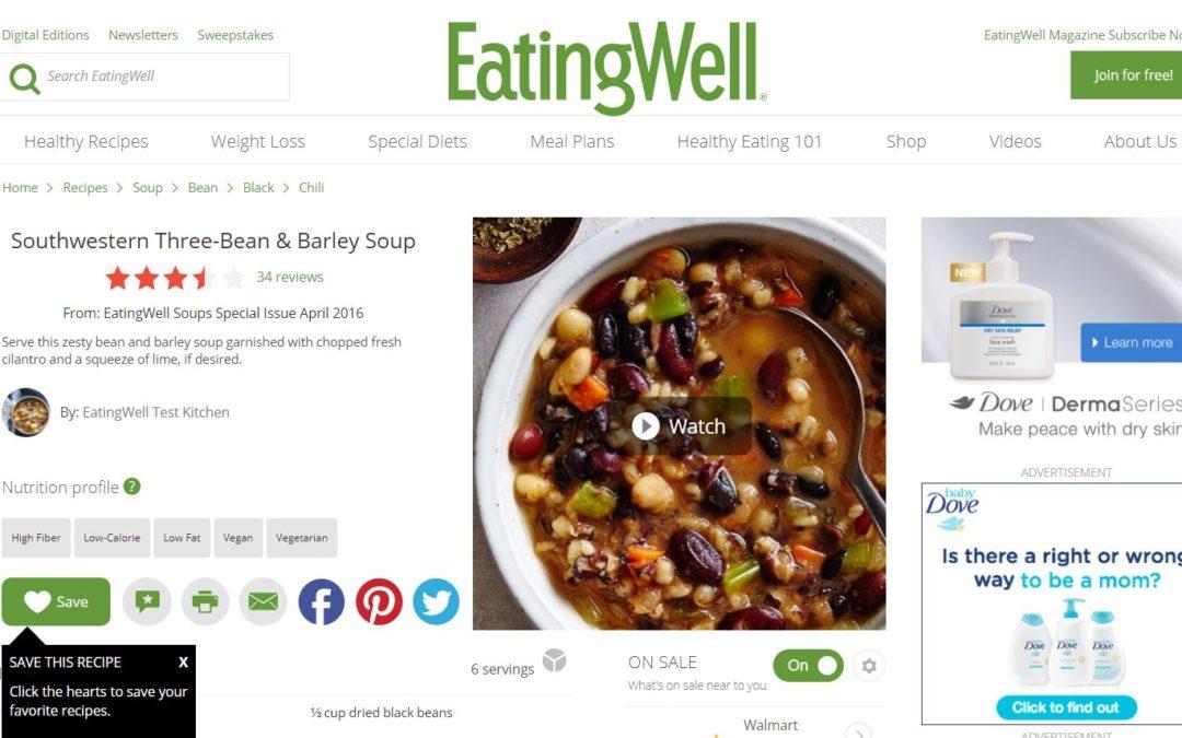 Southwestern Three-Bean & Barley Soup Recipe